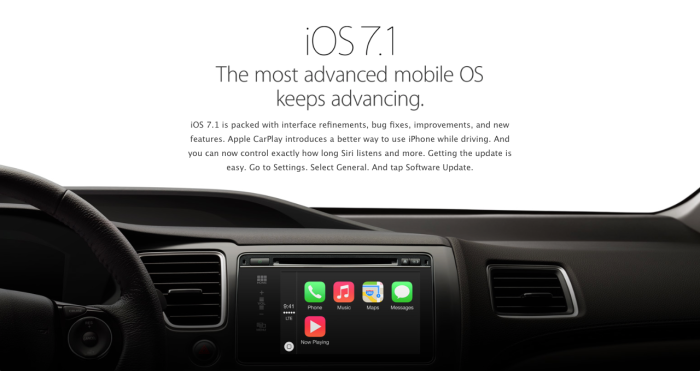 iOS 7.1: The most advanced mobile OS keeps advancing.